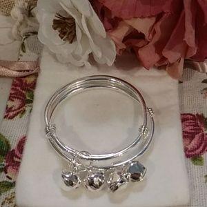 Sterling Silver Infant Jingle Bells Bracelet Set